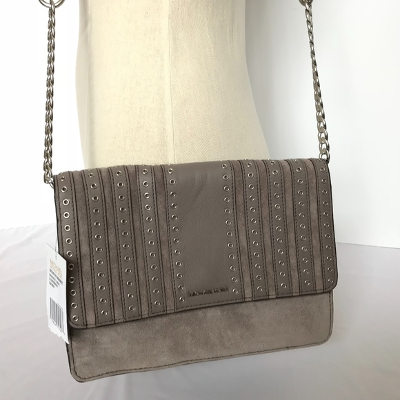 0842ab9612df Michael Kors Brooklyn Grommet Suede Crossbody